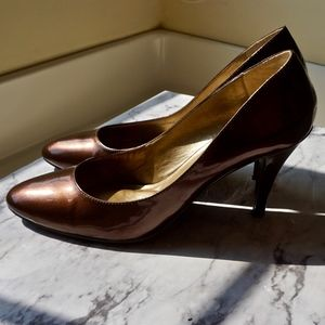 Connie Shoes - Connie Brown Patent Pumps